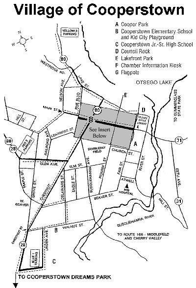 Cooperstown Village Map